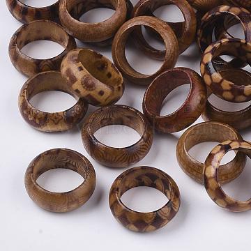 Wood Thumb Rings, BurlyWood, Size 6, 16mm(RJEW-N028-01-M)
