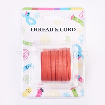 Faux Suede Cord, Faux Suede Lace, Orange Red, 5x1.5mm, about 5.46 yards(5m)/roll(X-LW-R003-5mm-1053)