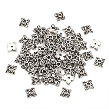 Antique Silver Alloy Bead Caps