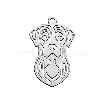 Stainless Steel Color Dog Stainless Steel Pendants