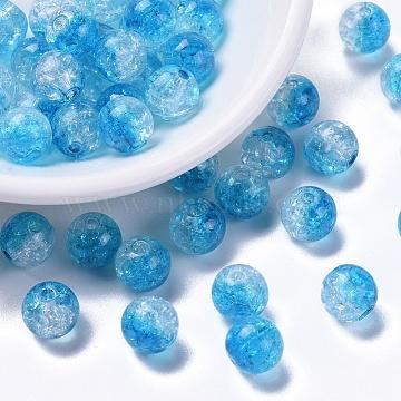 10mm DeepSkyBlue Round Acrylic Beads