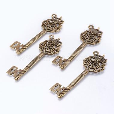 Antique Bronze Key Alloy Pendants
