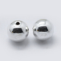 925 Sterling Silver Spacer Beads, Round, Silver, 10mm, Hole: 1.5mm