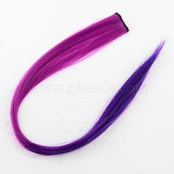 Accessoires de cheveux de mode pour femmes, pinces à cheveux à pression de fer, avec des perruques de cheveux de nylon, violet, 47 cm(PHAR-R127-08)