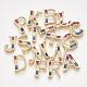 Brass Cubic Zirconia Slide Charms(ZIRC-S063-01-G)-2
