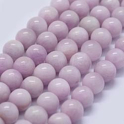 "Chapelets de perles en kunzite naturelle, grade AAA, rond, 8mm, trou: 0.8mm; environ 49 pcs/chapelet, 15.5""(G-K285-01-8mm)"