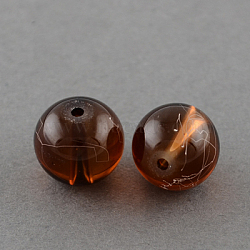 """Drawbench прозрачные стеклянные бусы нити, окрашеные, круглые, коричневый, 8 мм; отверстие: 1.3~1.6 мм; около 100 шт / нитка, 31.4""""(X-GLAD-Q012-8mm-21)"""