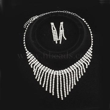 Rhinestone Stud Earrings & Necklaces