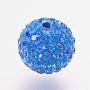 8mm Round Polymer Clay+Czech Rhinestone Beads(RB-F022-PP9-8mm-TB16)