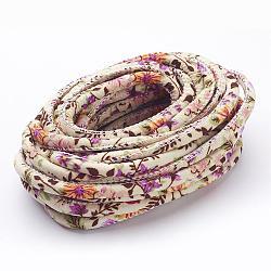 Fleurs cordons de tissu d'impression, oldlace, 7 mm; 100 yards / paquet(OCOR-M001-03)