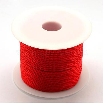 Nylon Thread, Red, 1.0mm, about 49.21 yards(45m)/roll(NWIR-R026-1.0mm-700)