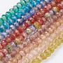 10mm Couleur Mixte Rondelle Lampwork Perles(LAMP-K027-01)