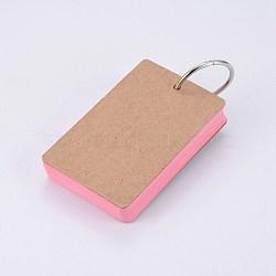 крафт-бумага для заметок, скоросшиватели легкие флип-карты изучают блокноты, розовый, 88x54x19 мм; о 50 лист / шт(BT-TAC0004-A03)