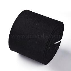 feutre aiguille de broderie de tissu non tissé pour l'artisanat de bricolage, noir, 140x3 mm; sur 6 m / rouleau(DIY-WH0156-92B)