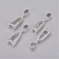 серебряные медные ледорубы щепотка, кулон поручительств, кадмия и никеля и свинца, 19x10x4 mm, отверстия: 4 mm(X-KK-D318-S-NR)
