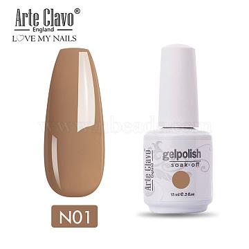 15ml Special Nail Gel, for Nail Art Stamping Print, Varnish Manicure Starter Kit, BurlyWood, Bottle: 34x80mm(MRMJ-P006-F001)