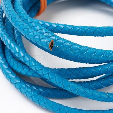 Braided Leather Cord(WL-F009-B11-6mm)-2