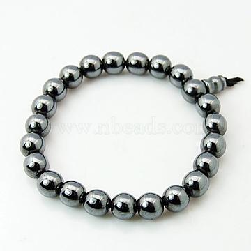 Non-Magnetic Synthetic Hematite Buddha Bracelets, 52mm(BJEW-G121-1)