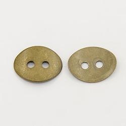 Fermoirs de fermoirs en laiton, bronze antique, 14x10mm, Trou: 2mm(KK-G080-AB-NF)