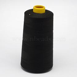 Fil à coudre 100% fibre de polyester filée, noir, 0.1 mm; environ 5000 mètres / rouleau(OCOR-O004-A76)