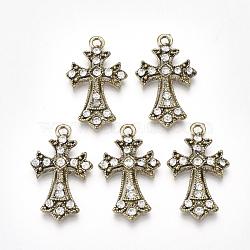 Bronze Antique Croix Alliage Pendentif(PALLOY-S177-22)