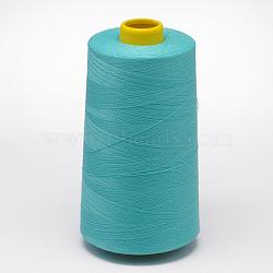 Fil à coudre 100% fibre de polyester filée, turquoise, 0.1 mm; environ 5000 mètres / rouleau(OCOR-O004-A52)