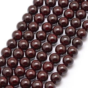 14mm Indigo Round Fossil Beads