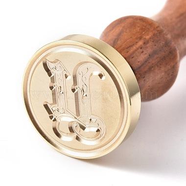 Brass Retro Initials Wax Sealing Stamp(AJEW-F046-03U)-1