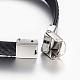 PU Leather Braided Cord Bracelets(X-BJEW-E324-C07)-2