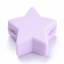 14mm Lilas Étoile  Silicone Perles(X-SIL-T041-02)
