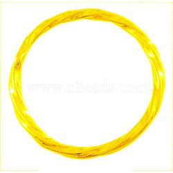 Anneaux connecteurs en alliage, cercle perles cadres, sans plomb et sans cadmium, or, environ 21 mm de diamètre, épaisseur de 2mm, Trou: 1mm(X-EA8812Y-G)