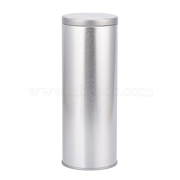 (Defective Closeout Sale), Tea Tin Canister with Airtight Double Lids, Small Kitchen Canisters, for Tea Coffee Sugar Storage, Matte Silver Color, 2-5/8x7-1/8 inch(6.6x18cm)(CON-XCP0004-43)
