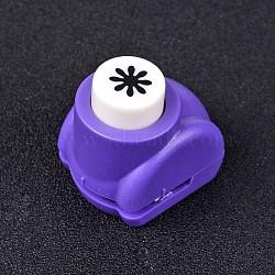 Kits de perforateurs en plastique multicolores de couleur aléatoire ou de couleurs mélangées aléatoires pour scrapbooking & artisanat en papier, shapers de papier, flocon de neige, 33x26x32mm(AJEW-L051-13)