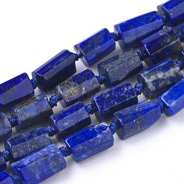 8mm Column Lapis Lazuli Beads