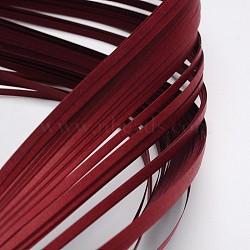 Bandes de papier quilling, DarkRed, 390x3mm; à propos 120strips / sac(X-DIY-J001-3mm-B32)