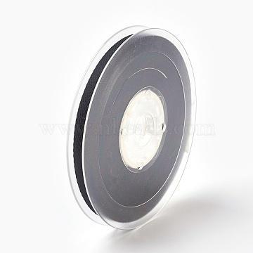 Rayon and Cotton Ribbon, Twill Tape Ribbon, Herringbone Ribbon, Black, 3/4 inch(19mm), about 50yards/roll(45.72m/roll)(SRIB-F007-030-19mm)