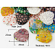 Millefiori Glass Pendants(X-G23CD011)-1