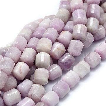 Natural Kunzite Beads Strands, Spodumene Beads, Column, Grade A, 11~12x10mm, Hole: 1mm; about 34pcs/strand, 16.14 inches(41cm)(G-D0010-14B-A)
