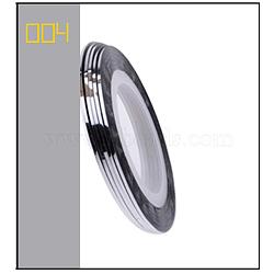 Ligne de bande de striping, nail art autocollant conseils décoration, rouleaux d'autocollants nail art, argenterie, 4.3cm; 20m / rouleau(MRMJ-L003-A04)