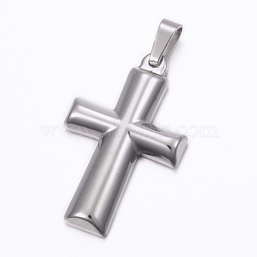 Stainless Steel Color Cross Stainless Steel Pendants