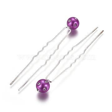 Silver Fuchsia Acrylic Hair Forks