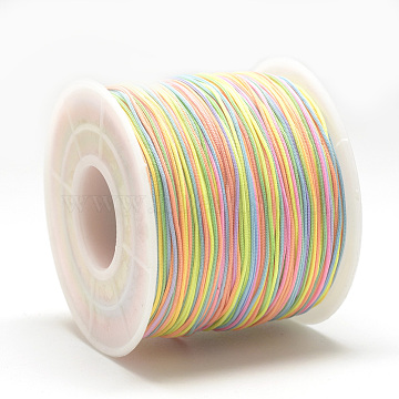 Polyester Cords, Colorful, 0.4~0.5mm, about 131.23~142.16 yards(120~130m)/roll(OCOR-Q038-C02)