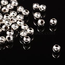 Fer rond en argent séparateurs perles, 4mm, Trou: 1.5mm(X-IFIN-E148-S)