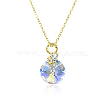410mm Sterling Silver+Austrian Crystal Necklaces