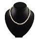 Elegant Pearl Beaded Necklaces(NJEW-Q282-04)-2