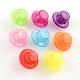 Transparent Crackle Hat Acrylic Beads(X-CACR-R012-05)-1
