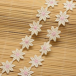 """Ruban de coton de fleur pour la fabrication de bijoux, beige, 29/32"""" (23 mm)(X-ORIB-F001-14)"""