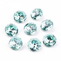dos et dos pointus cabochons en verre stratifié k 9, Grade A, facettes, plat rond, lumière azore, 10x5 mm(X-RGLA-J012-10mm-361)