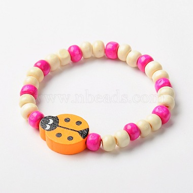 Stretchy Wood Jewelry Sets: Necklaces & Bracelets for Kids(SJEW-JS00669)-3