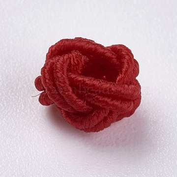 7mm Red Round Polyester Beads